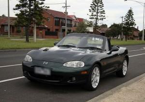2001 Mazda Miata convertible