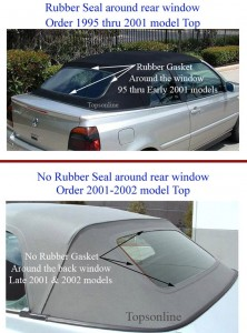 VW Cabrio replacement convertible top