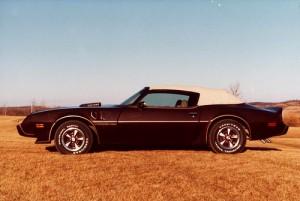 Pontiac Firebird convertible top