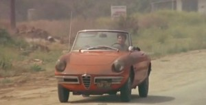 Dustin Hoffman's Alfa Romeo Spyder in The Graduate