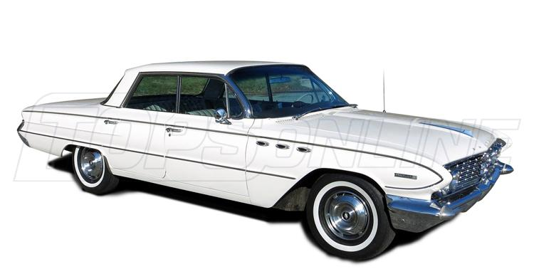 Rubber Weatherstrips (Weather Seals):1961 and 1962 Buick Invicta & Lesabre (B Body)--All Hardtop Styles