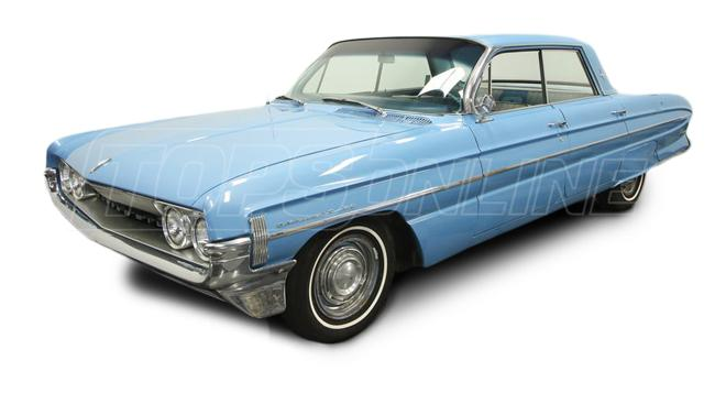 Rubber Weatherstrips (Weather Seals):1961 thru 1964 Oldsmobile Dynamic, Starfire, Jetstar 88 & Super 88--All Hardtop Styles
