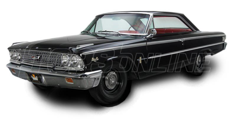 Rubber Weatherstrips (Weather Seals):1963 and 1964 Ford Galaxie Hardtop (Fastback)