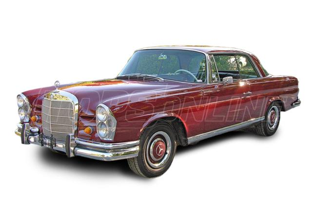 Automotive Headliners:1965 thru 1973 Mercedes 250S, 250SE, 280S, 280SE, 280SEL Sedan (Chassis W108)