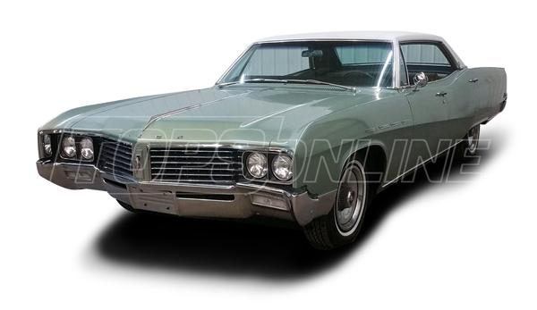 Rubber Weatherstrips (Weather Seals):1967 and 1968 Buick Electra, Lesabre & Wildcat--All Hardtop Styles