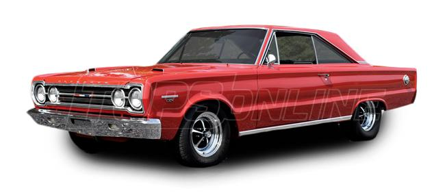 Rubber Weatherstrips (Weather Seals):1966 and 1967 Plymouth Belvedere, GTX & Satellite--All Hardtop Styles