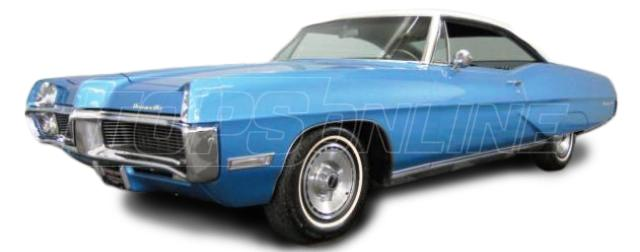 Rubber Weatherstrips (Weather Seals):1967 and 1968 Pontiac Bonneville, Catalina, Grand Prix & Executive--All Hardtop Styles