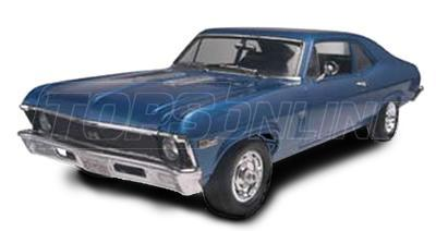 Rubber Weatherstrips (Weather Seals):1968 thru 1974 Chevy II & Nova--All Hardtop Styles