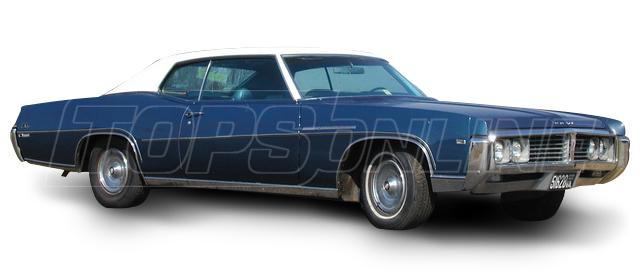 Rubber Weatherstrips (Weather Seals):1969 and 1970 Buick Lesabre & Wildcat--All Hardtop Styles