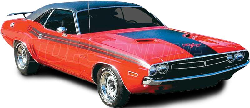 Rubber Weatherstrips (Weather Seals):1971 thru 1974 Dodge Challenger (E Body) Hardtop