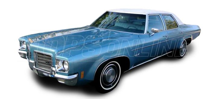 Rubber Weatherstrips (Weather Seals):1971 thru 1976 Oldsmobile Delta 88 & Custom Cruiser--All Hardtop Styles