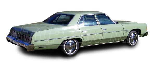 Rubber Weatherstrips (Weather Seals):1971 thru 1976 Chevrolet Impala, Caprice, Bel Air, Biscayne, Brookwood, Kingswood, & Townsman--All Hardtop Styles