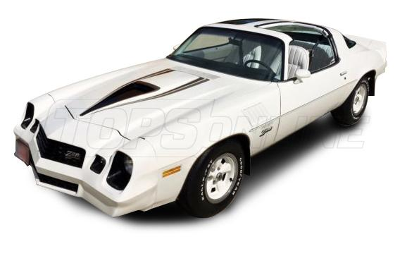 Rubber Weatherstrips (Weather Seals):1978 thru 1981 Chevrolet Camaro with Fisher Body T-Tops