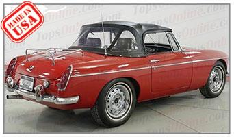 Convertible Tops & Accessories:1962 and 1963 MGB MK I Roadster