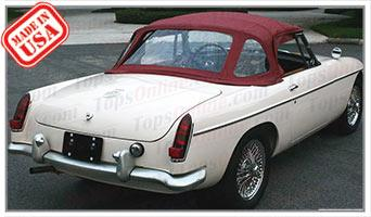 Convertible Tops & Accessories:1963 thru 1970 MGB MK I, MK II & MGC Roadster