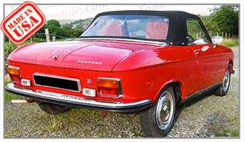 Convertible Tops & Accessories:1967 thru 1976 Peugeot 204 & 304 Cabriolet