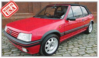 Convertible Tops & Accessories:1984 thru 1992 Peugeot 205 Cabriolet