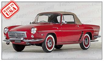 Convertible Tops & Accessories:1962 thru 1964 Renault Floride & Floride S Caravelle