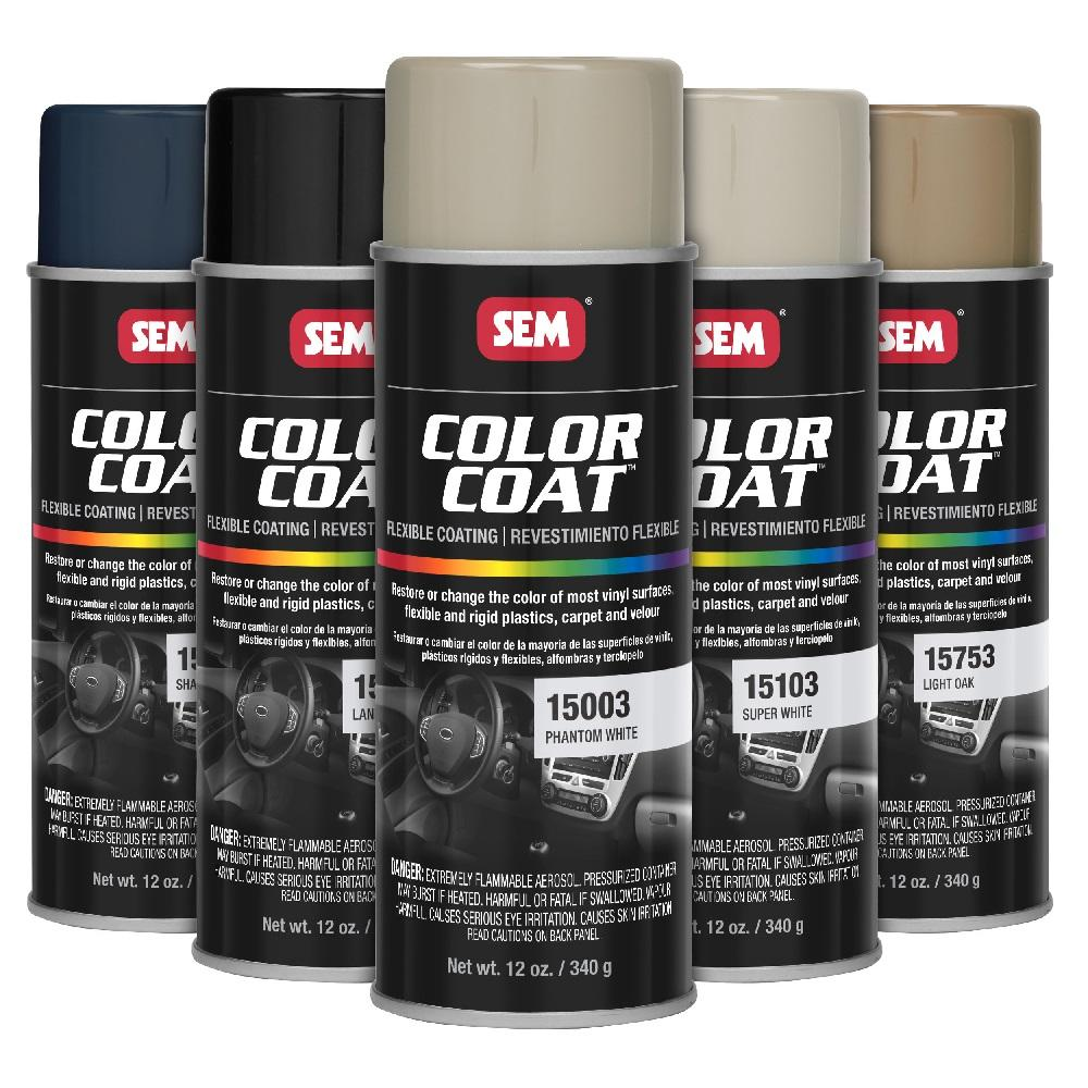 SEM Paints & Products:SEM Color Coat (Vinyl, Plastic, Carpet, and Velour)
