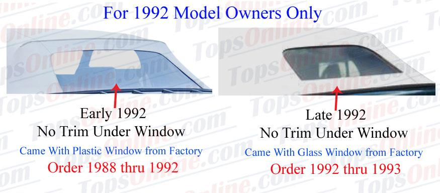 1988 thru 1992 Chevy Cavalier Z24 Convertible Tops and