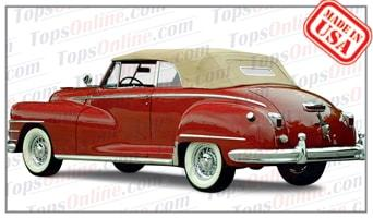Convertible Tops & Accessories:1946 thru 1948 Chrysler New Yorker, New Yorker Town & Country, Windsor and Windsor Town & Country