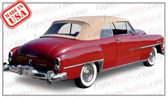 Convertible Tops & Accessories:1949 thru 1952 Chrysler New Yorker, New Yorker Town & Country, Windsor & Windsor Deluxe
