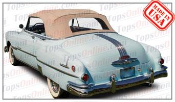 Convertible Tops & Accessories:1950 thru 1952 Pontiac Chieftain & Chieftain Deluxe