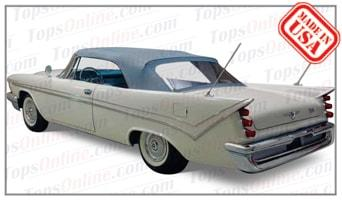 Convertible Tops & Accessories:1957 thru 1959 Desoto Adventurer, Firedome & Fireflite