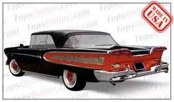 Convertible Tops & Accessories:1958 Edsel Citation
