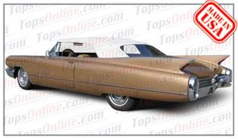 Rubber Weatherstrips (Weather Seals):1959 and 1960 Cadillac Eldorado Biarritz & Series 62 Convertible
