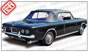 Rubber Weatherstrips (Weather Seals):1962 thru 1964 Chevy Corvair Monza Convertible