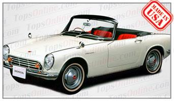 Convertible Tops & Accessories:1963 and 1964 Honda S500