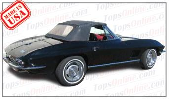 Rubber Weatherstrips (Weather Seals):1963 thru 1967 Chevy Corvette (C2) Convertible