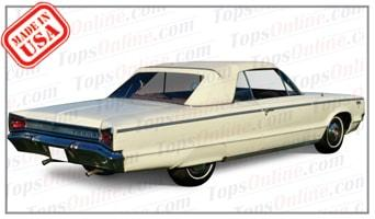 Rubber Weatherstrips (Weather Seals):1965 and 1966 Dodge Custom & Polara (C Body) Convertible