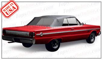 Rubber Weatherstrips (Weather Seals):1966 Plymouth Belvedere II & Satellite (B Body) Convertible