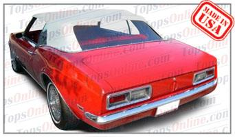 Convertible Tops & Accessories:1967 thru 1969 Chevrolet Camaro, Camaro RS & Camaro SS (First Gen)