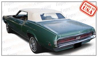 Convertible Tops & Accessories:1969 and 1970 Mercury Cougar & XR7