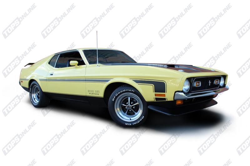 Seat Covers (Factory Style):1971 Ford Mustang (Convertible, Coupe, and Sportsroof) Deluxe Upholstery