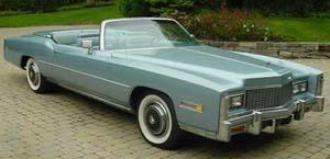 Rubber Weatherstrips (Weather Seals):1971 thru 1976 Cadillac Eldorado Convertible