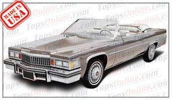 Convertible Tops & Accessories:1978 and 1979 Cadillac Coupe Deville (Car Craft or H & E Conversion)