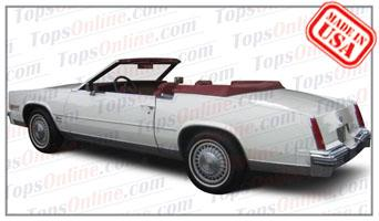 Convertible Tops & Accessories:1979 thru 1985 Cadillac Eldorado (Car Craft or H & E Conversion)