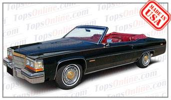 Convertible Tops & Accessories:1980 thru 1982 Cadillac Coupe Deville (Car Craft or H & E Conversion)