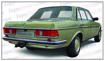 Seat Covers (Factory Style):1980 thru 1985 Mercedes 200, 200D, 230, 230E, 240D, 250, 280, 280E & 300D 4 Door Sedan (W123 Chassis)