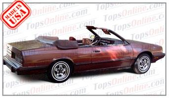 Convertible Tops & Accessories:1982 thru 1986 Chevrolet Celebrity