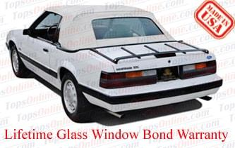 Convertible Tops & Accessories:1983 thru 1990 Ford Mustang (GLX, GT, L, LX)