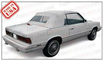 Convertible Tops & Accessories:1984 thru 1986 Dodge 600