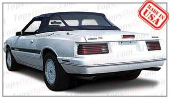 Convertible Tops & Accessories:1984 thru 1986 Mercury Capri & McLaren (ASC Conversion)