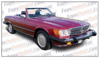 Seat Covers (Factory Style):1985 thru 1989 Mercedes 560SL, 500SL, 420SL & 300SL Convertible (R107 Chassis)