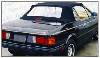 Convertible Tops & Accessories:1986 thru 1996 Maserati Bi-Turbo & Zagato Spyder