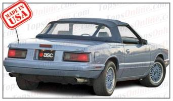 Convertible Tops & Accessories:1987 and 1988 Mercury Capri & McLaren (ASC Conversion)
